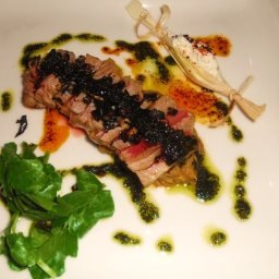 Chargrilled Tuna with Salsa Verde