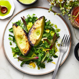 Charred Avocado Salad with Cilantro Mayo