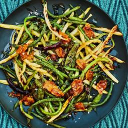 Charred Bean and Pea Salad
