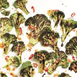 Charred broccoli with curry dressing