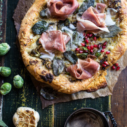 Charred Brussels Sprout Pizza with Browned Sage Butter.