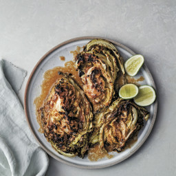 Charred Cabbage with Miso and Lime