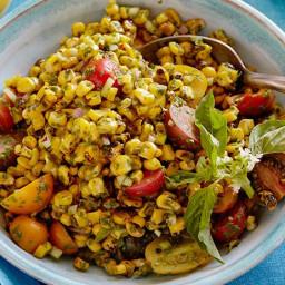 Charred Corn Salad with Basil Vinaigrette