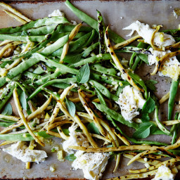 Charred Snap Beans with Whole Lemon Dressing and Mozzarella
