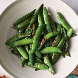 Charred Snap Peas with Creamy Tarragon Dressing