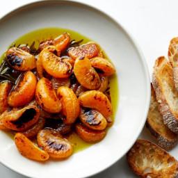 Charred Tangerines on Toast