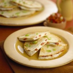 Chavrie Goat Cheese Roasted Red Pepper Quesadillas