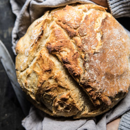 Cheaters No Knead Dutch Oven Sourdough Bread