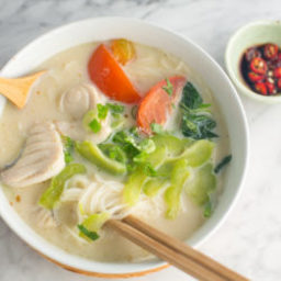 Cheater's Sliced Fish Noodle Soup Recipe