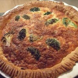 Cheaty salmon and broccoli quiche recipe