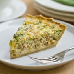 Cheddar and Broccoli Quiche