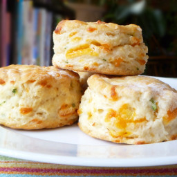 Cheddar and Scallion Biscuits Recipe | Bread Baking