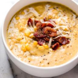 Cheddar Corn Chowder with Bacon