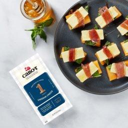 Cheddar Prosciutto Melon & Basil Appetizer