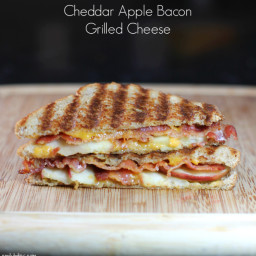 Cheddar Apple Bacon Grilled Cheese