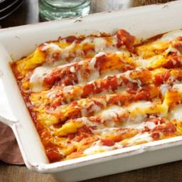 Cheese  and  Pumpkin-Filled Manicotti