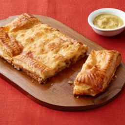 Cheese Curds and Sausage in Puff Pastry
