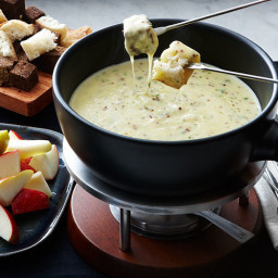 Cheese Fondue with Whole-Grain Mustard and Tarragon