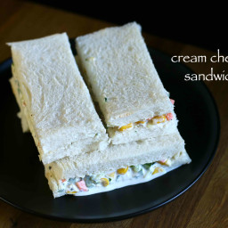 cheese sandwich recipe | veg cream cheese sandwich recipe
