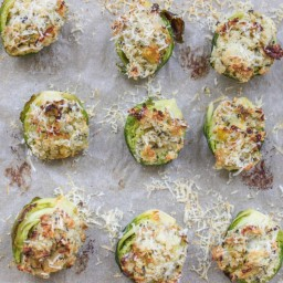 Cheese stuffed brussel sprouts