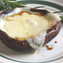 Cheese topped Portabella Mushrooms