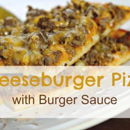 Cheeseburger Pizza with Burger Sauce