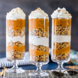 Cheesecake and Pumpkin Pie Parfaits