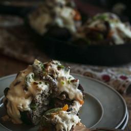 Cheesesteak Stuffed Portabello Mushrooms