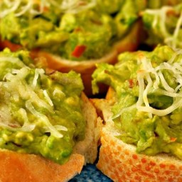 Cheesy Avocado Bites