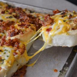 Cheesy Bacon Garlic PinWheels