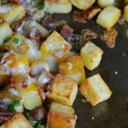 Cheesy Bacon Oven Potatoes