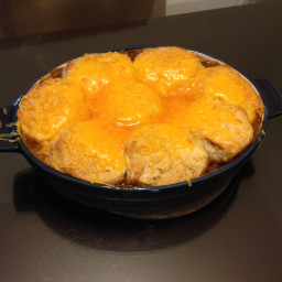 Cheesy beef and bean casserole