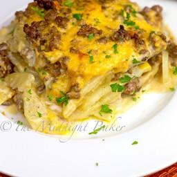 Cheesy Beef and Potatoes Casserole
