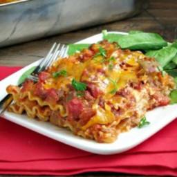 Cheesy Beef Taco Lasagna