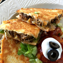 Cheesy Beefy Fajita Quesadillas