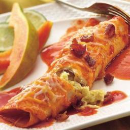 Cheesy Breakfast Enchiladas
