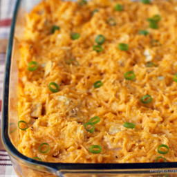 Cheesy Buffalo Chicken Potato Bake