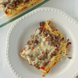Cheesy Cajun Beef and Potato Bake