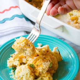 Cheesy Cauliflower Gratin