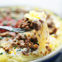 Cheesy Chili Spaghetti Squash Casserole – Low Carb and Gluten Free