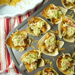 Cheesy Chipotle Chicken Taco Bite Appetizers