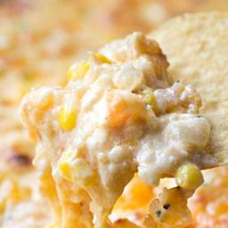 Cheesy Chipotle Shrimp and Corn Dip