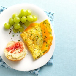 Cheesy Chive Omelet Recipe