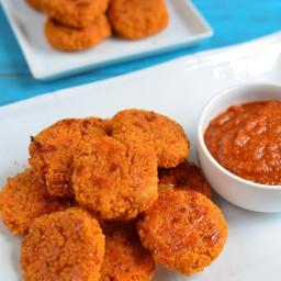 Cheesy Couscous Bites with Tomato Dip