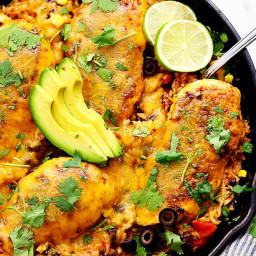 Cheesy Fiesta Chicken and Rice Skillet