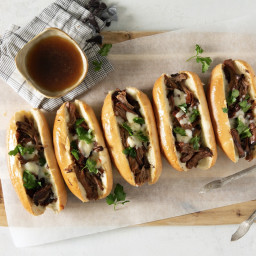 Cheesy French Dip Sandwiches