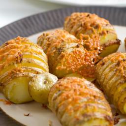 Cheesy Hasselback Potatoes