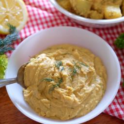 Cheesy Lemon Dill Hummus