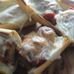 Cheesy Meatball Sub Sandwiches