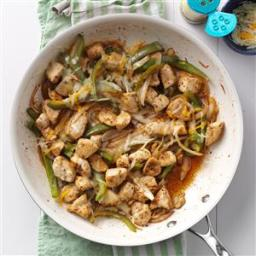 Cheesy Onion Chicken Skillet Recipe